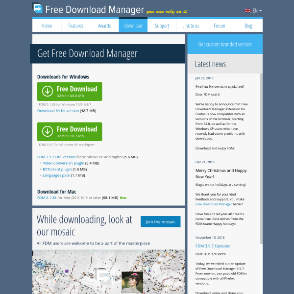 Free Download Manager - The Growth Gallery for Startups